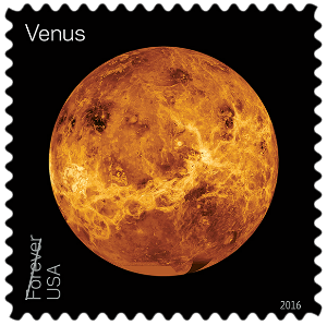 USA 2016 Views of our Planets Venus Forever stamp