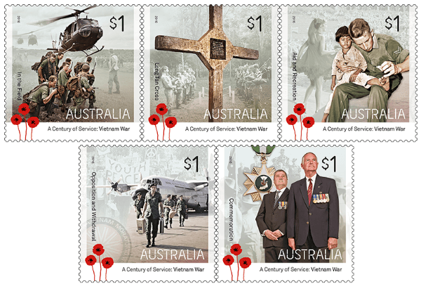 Australia 2016 A Century Of Service Vietnam War stamp set