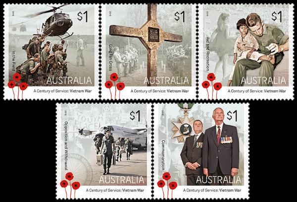 Australia 2016 A Century Of Service Vietnam War stamp set