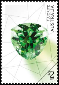 Australia 2017 Rare Beauties $2 Fluorite stamp