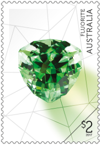 Australia 2017 Rare Beauties $2 Fluorite stamp