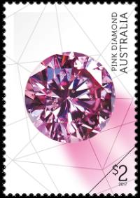 Australia 2017 Rare Beauties $2 Pink Diamond stamp