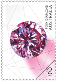 Australia 2017 Rare Beauties $2 Pink Diamond stamp