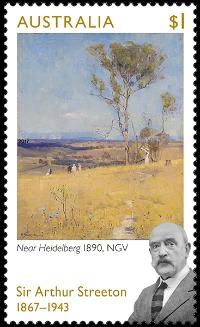 Australia 2017 $1 Sir Arthur Streeton stamp