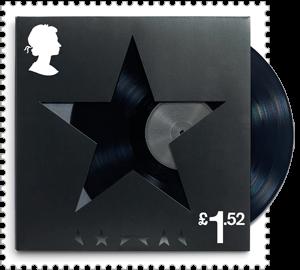 UK 2017 David Bowie £1.52 BlackStar stamp