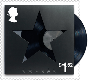 UK 2017 David Bowie £1.52 BlackStar stamp
