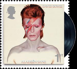 UK 2017 David Bowie 1ST Aladdin Sane stamp
