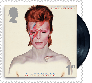 UK 2017 David Bowie 1ST Aladdin Sane stamp
