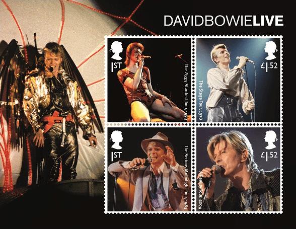 UK 2017 David Bowie stamp sheetlet