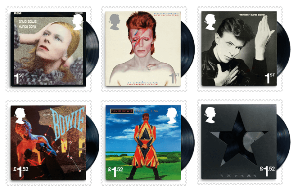 UK 2017 David Bowie album stamps