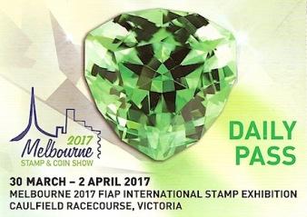 Australia Melbourne 2017 Daily Pass prepaid postcard