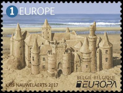 Belgium 2017 Europa 1 Sand Castle stamp