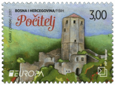 Bosnia and Herzegovina 2017 Europa 3KM Počitelj stamp