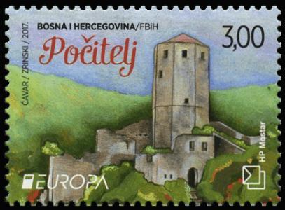 Bosnia and Herzegovina 2017 Europa 3KM Počitelj stamp