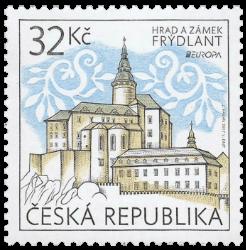 Czech Republic 2017 Europa 32Kč Frýdlant Castle and Chateau stamp