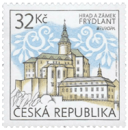Czech Republic 2017 Europa 32Kč Frýdlant Castle and Chateau stamp