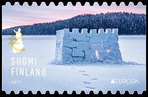 Finland 2017 Europa no-value Snowcastle stamp