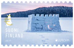 Finland 2017 Europa no-value Snowcastle stamp