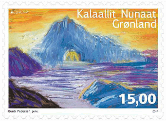 Greenland 2017 Europa 15kr Castle stamp