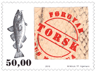 Faroe Islands 2016 50kr fish skin stamp