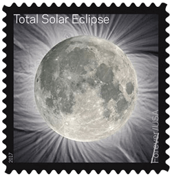 USA 2017 Eclipse Forever Moon stamp