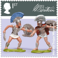 UK 2017 Classic Toys 1st Herald Trojan Warriors stamp