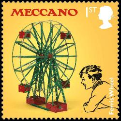 UK 2017 Classic Toys 1st Meccano stamp