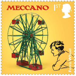 UK 2017 Classic Toys 1st Meccano stamp