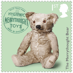 UK 2017 Classic Toys 1st Merrythought Bear stamp