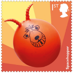 UK 2017 Classic Toys 1st Spacehopper stamp