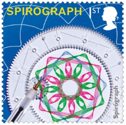 UK 2017 Classic Toys 1st Spirograph stamp