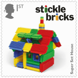 UK 2017 Classic Toys 1st Stickle Bricks stamp