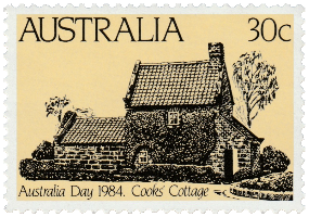 Australia 1984 Australia Day 30c Cook's Cottage stamp