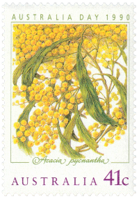 Australia 1990 Australia Day golden wattle 41c stamp
