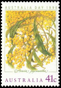 Australia 1990 Australia Day golden wattle 41c stamp