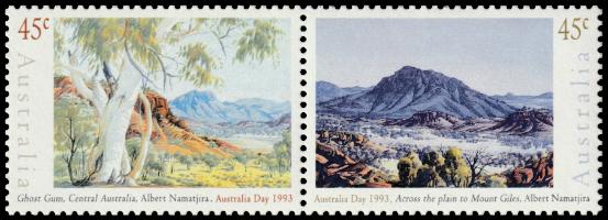 Australia 1993 Australia Day Albert Namatjira 45c pair
