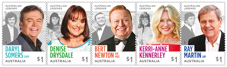 Australia 2018 Legends of television $1 stamp strip