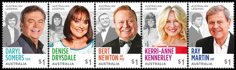 Australia 2018 Legends of television $1 stamp strip