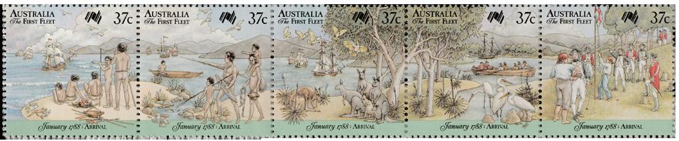 Australia 1988 First Fleet Arrival strip