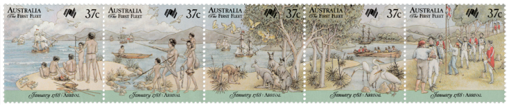 Australia 1988 First Fleet Arrival strip