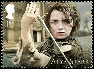 UK 2018 Game of Thrones 1st Arya Stark stamp