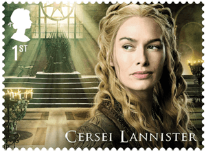 UK 2018 Game of Thrones 1st Cersei Lannister stamp