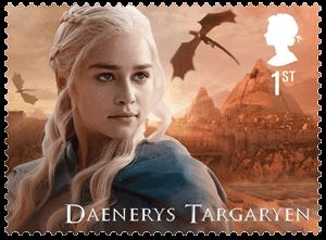 UK 2018 Game of Thrones 1st Daenerys Targaryen stamp