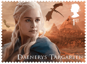 UK 2018 Game of Thrones 1st Daenerys Targaryen stamp