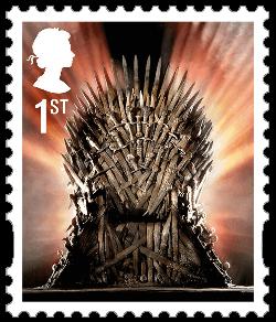 UK 2018 Game of Thrones 1st Iron Throne stamp