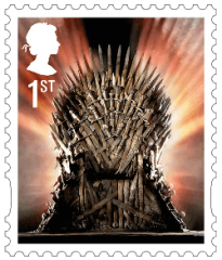 UK 2018 Game of Thrones 1st Iron Throne stamp