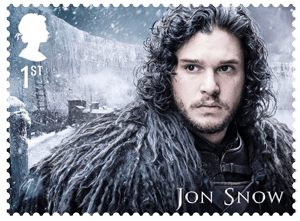 UK 2018 Game of Thrones 1st Jon Snow stamp