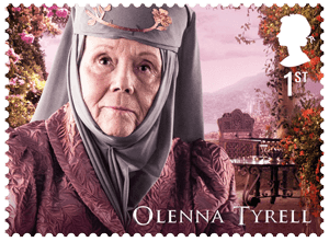 UK 2018 Game of Thrones 1st Olenna Tyrell stamp