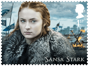UK 2018 Game of Thrones 1st Sansa Stark stamp