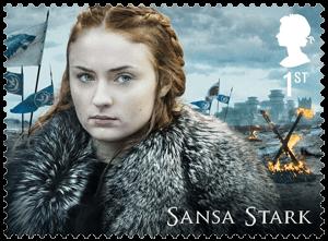 UK 2018 Game of Thrones 1st Sansa Stark stamp